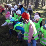Lapsed Kauksis metsarajal mustikatega maiustamas.